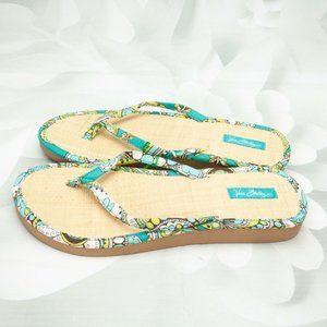 Vera Bradley Paisley Designer Flip-Flops Sandals